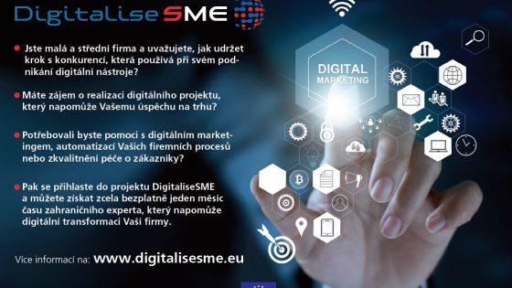 Zahraniční pomoc pro snazší digitální transformaci českých firem: projekt DigitaliseSME
